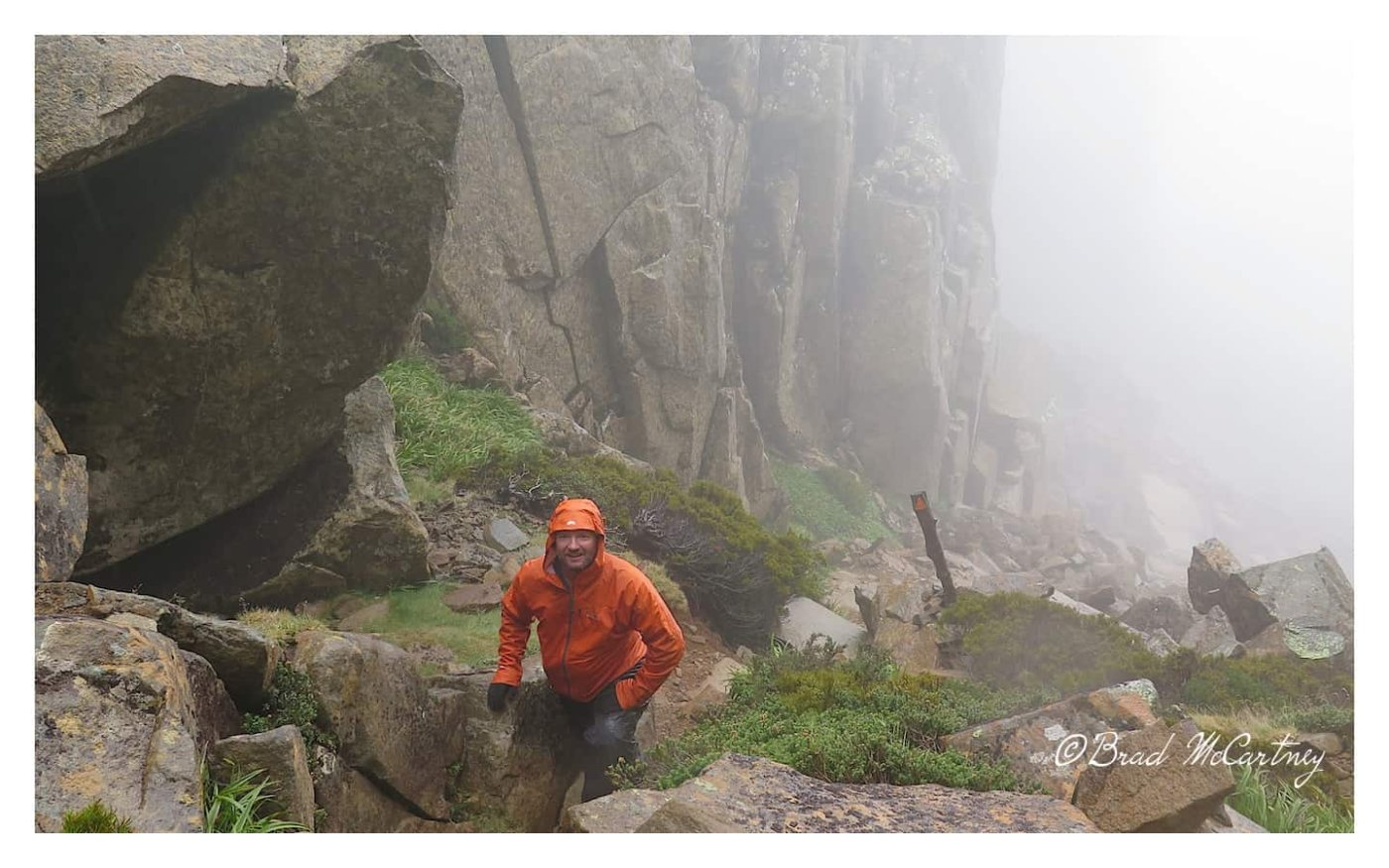 On the way to the top of the highest mountain in Tasmania, Mt Ossa