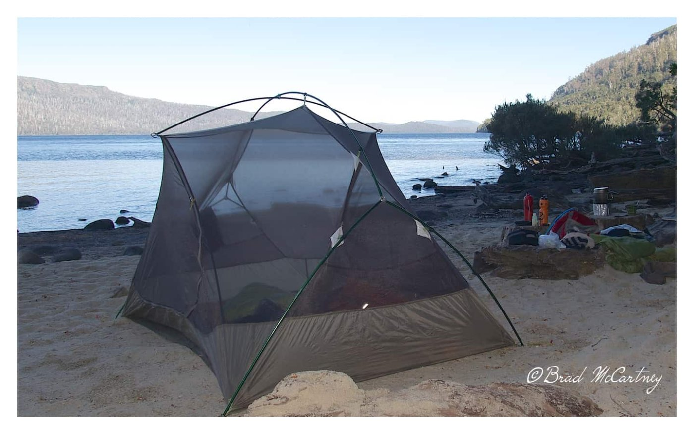 Camping on Lake St Clair