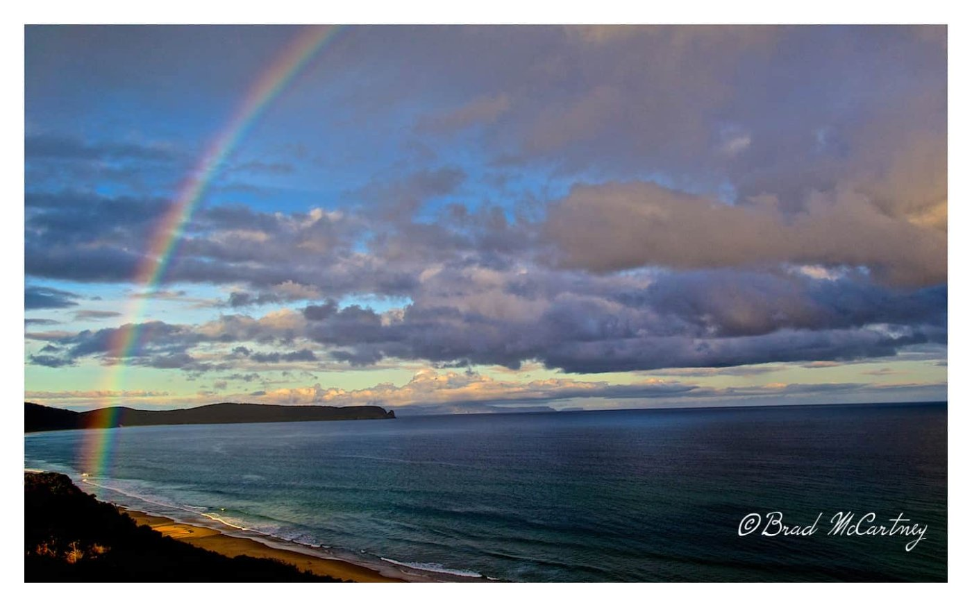 I followed the rainbow down to the beach, but no pot of gold