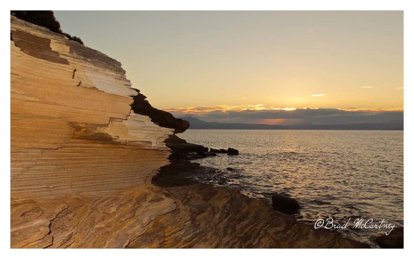 Painted cliffs are a nice place to watch sunset