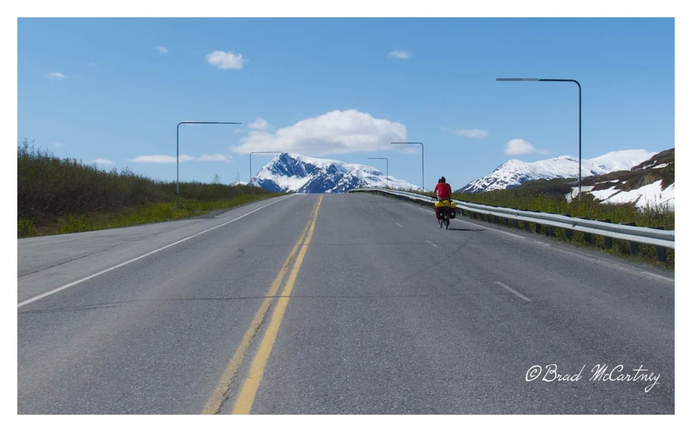 Near the top of Thompson Pass on the Richardson Highway