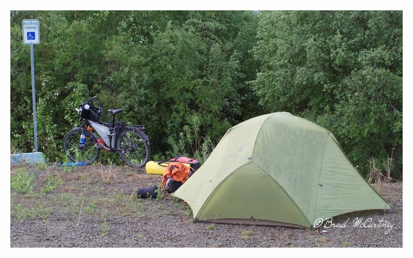 Yukon River campsite dalton highway