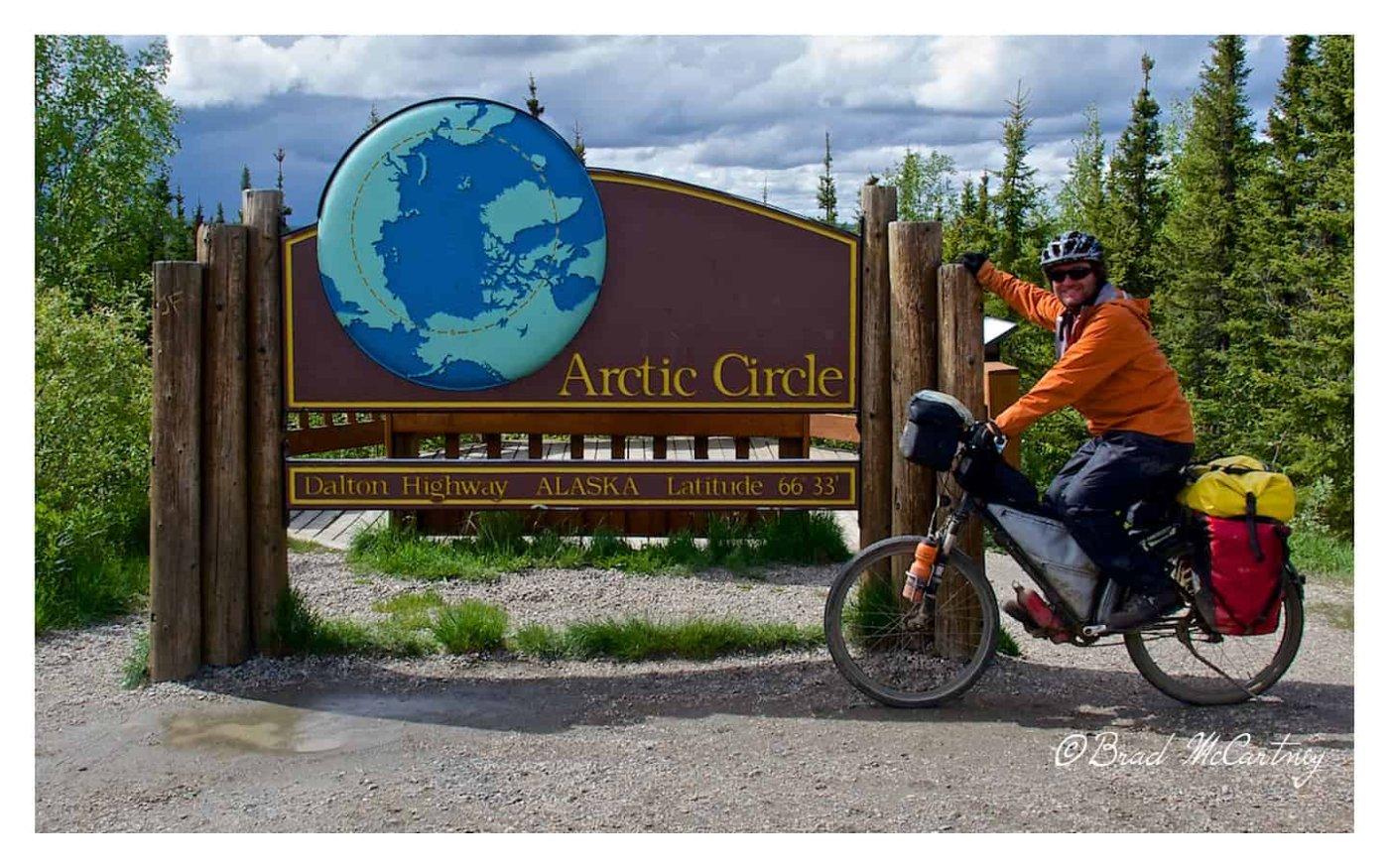 Arctic circle Cycling the dalton highway