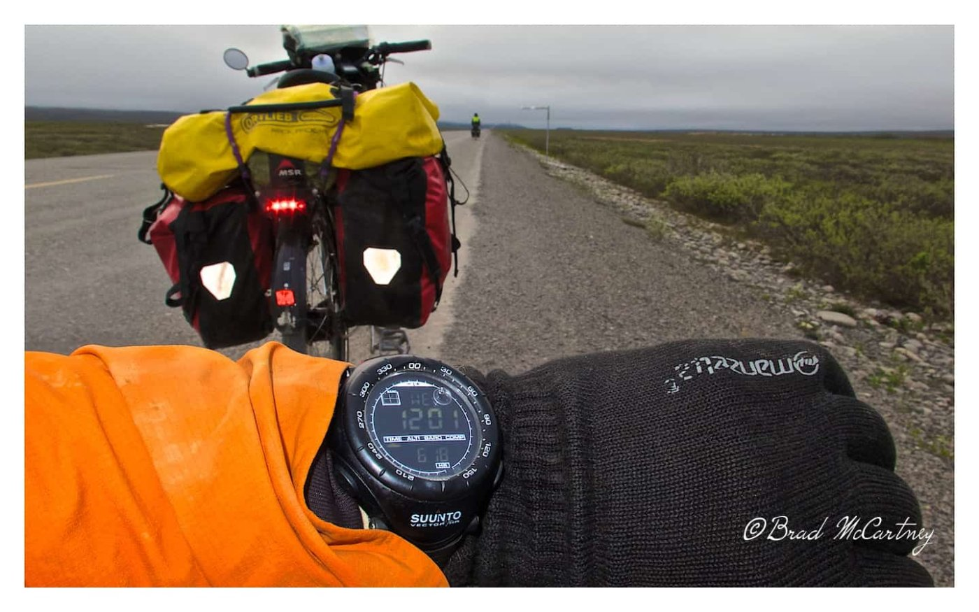 Midnight riding in Alaska