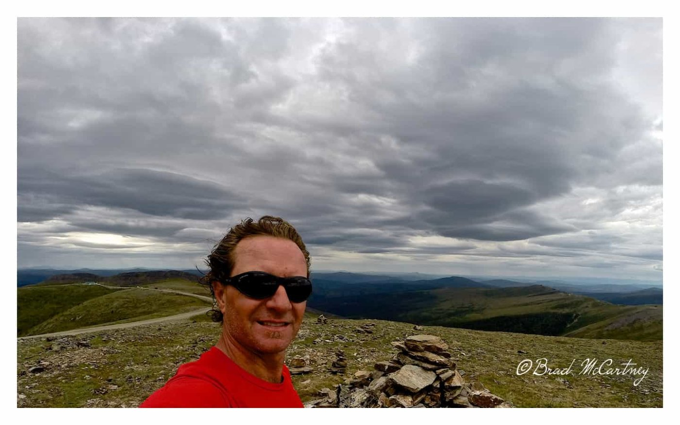 The high point of the Top of the World Hwy, Border post behind me
