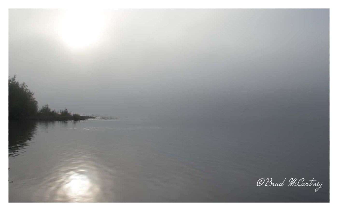 Low cloud canoeing yukon river