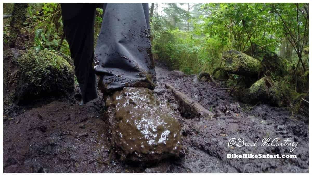 west coast trail muddy feet