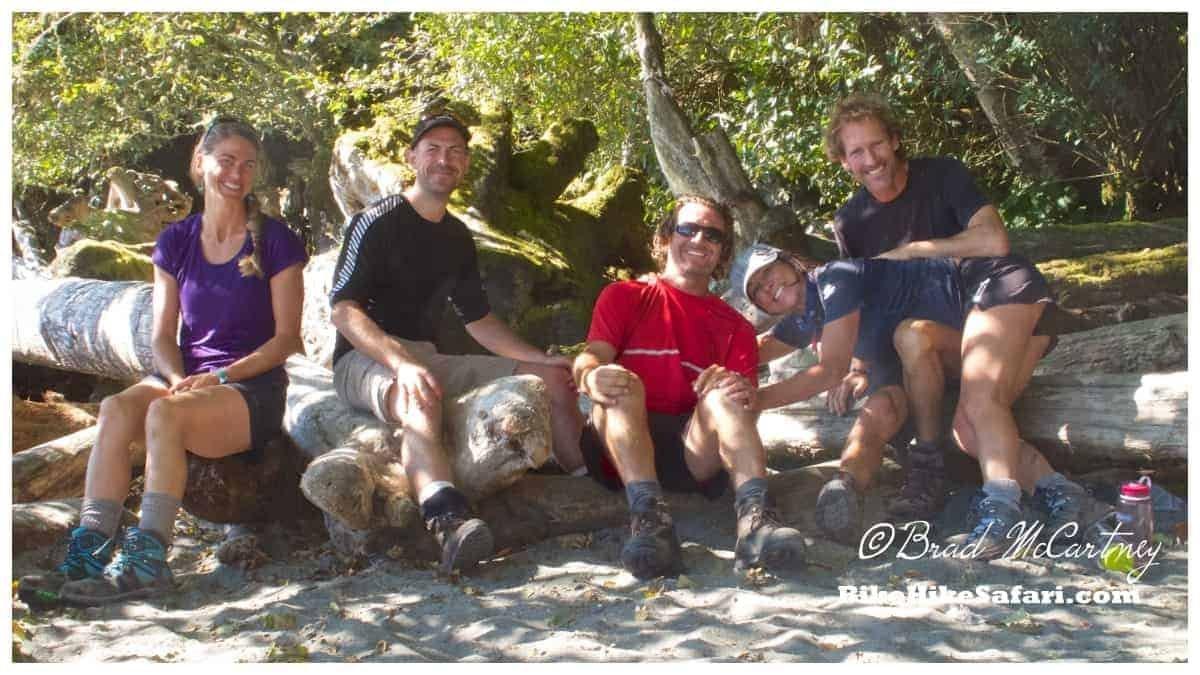 hiking group on the west coast trail
