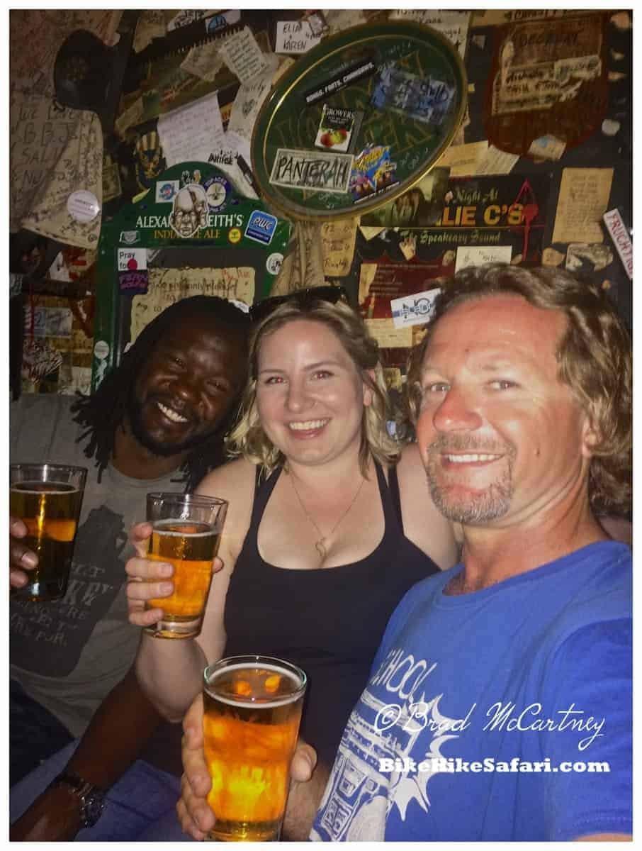 Tim, Elyse and myself at Big Bad Johns Bar.