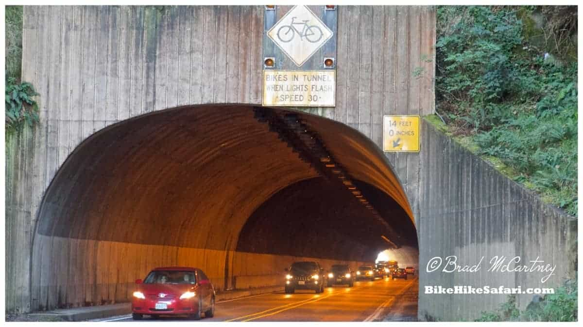 Riding through tunnels with lots of traffic. Drivers have been very considerate