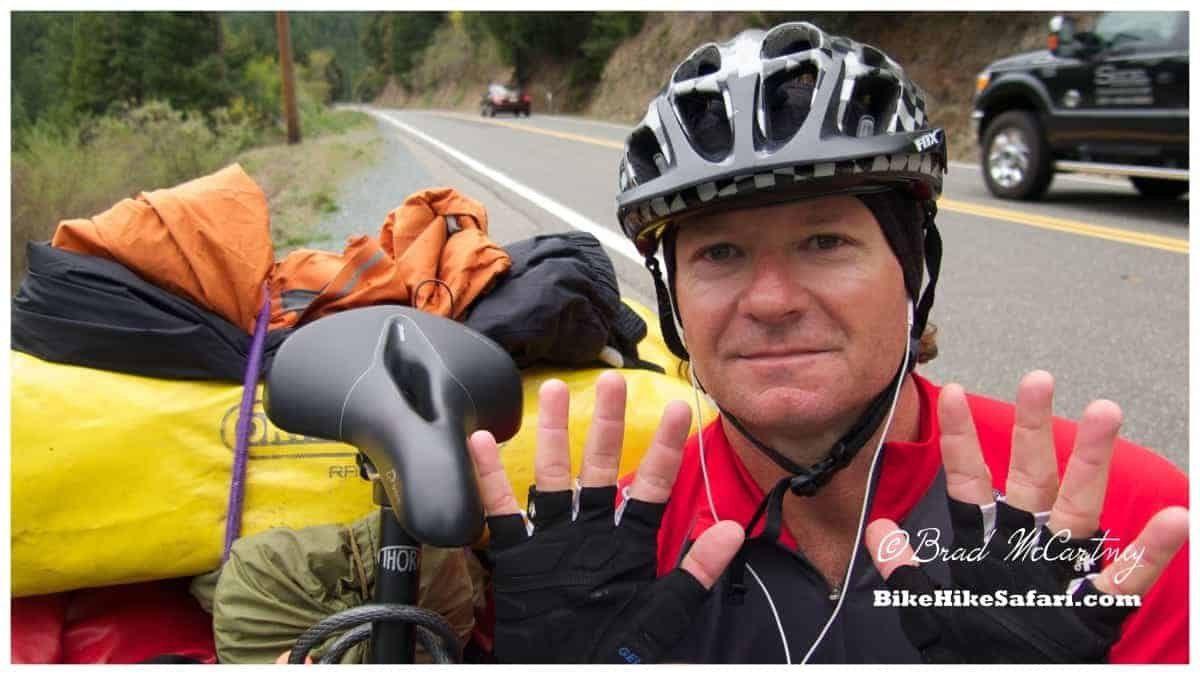 10000km of travel by bicycle