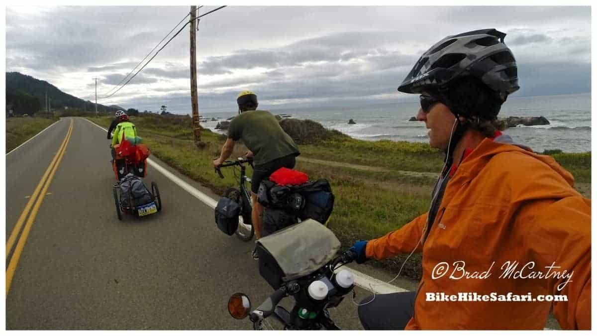 drafting while cycling the california coast