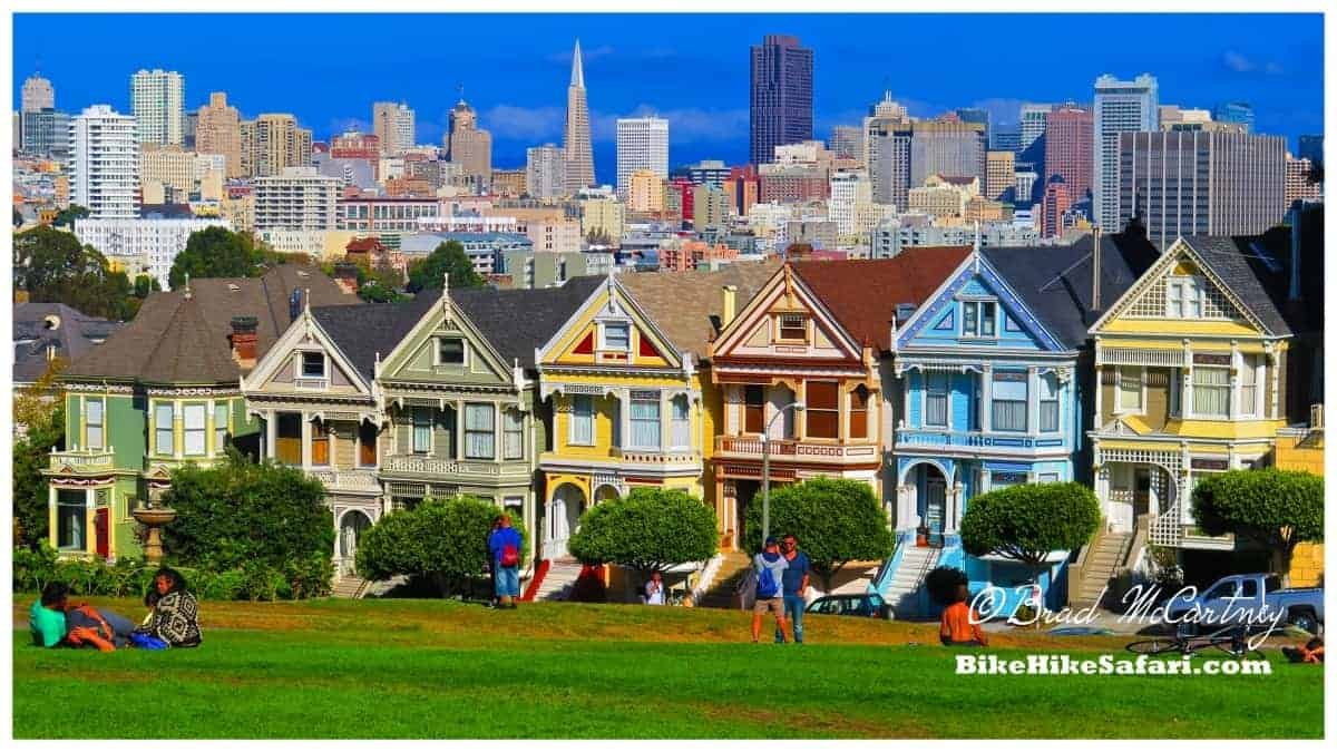 The view over San Francisco from 'The Painted Ladies'.