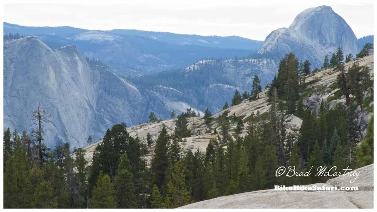 Half Dome from the road over Tioga Pass