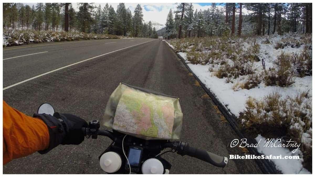 Cycling through the snow