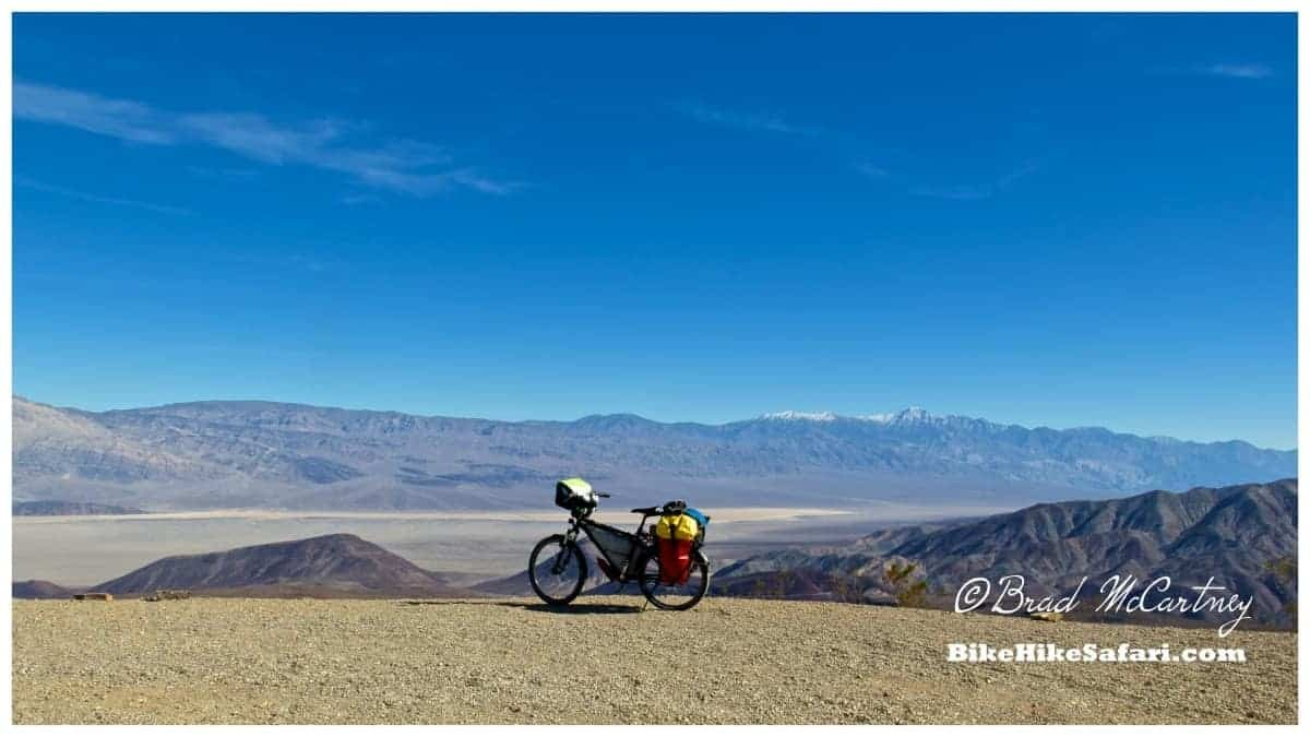 Views of the Panamint Valley and long climb up to Townes Pass