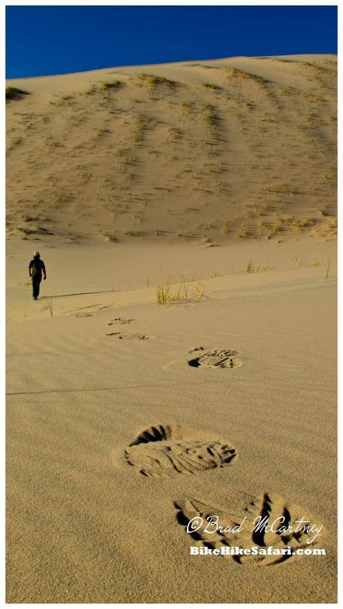 Hiking on the Kelso Dunes in the Mojave National Preserve