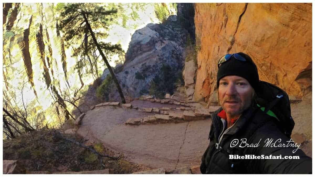 The switchbacks on the climb to Angels Landing