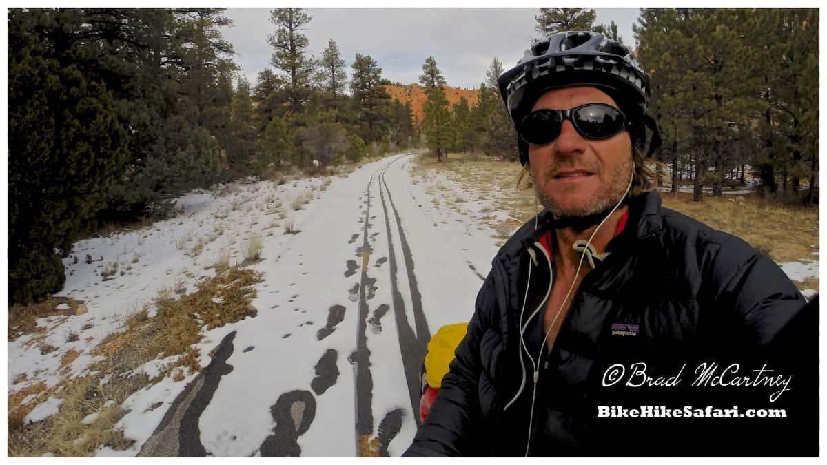 Snow on the bike path