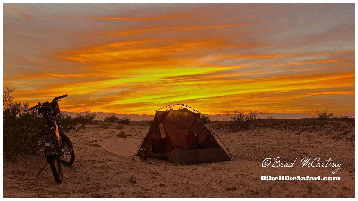 Last night camping in the Arizona Sonoran Desert