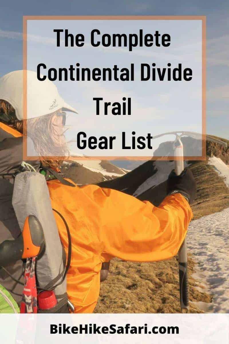 Continental Divide Trail Gear List