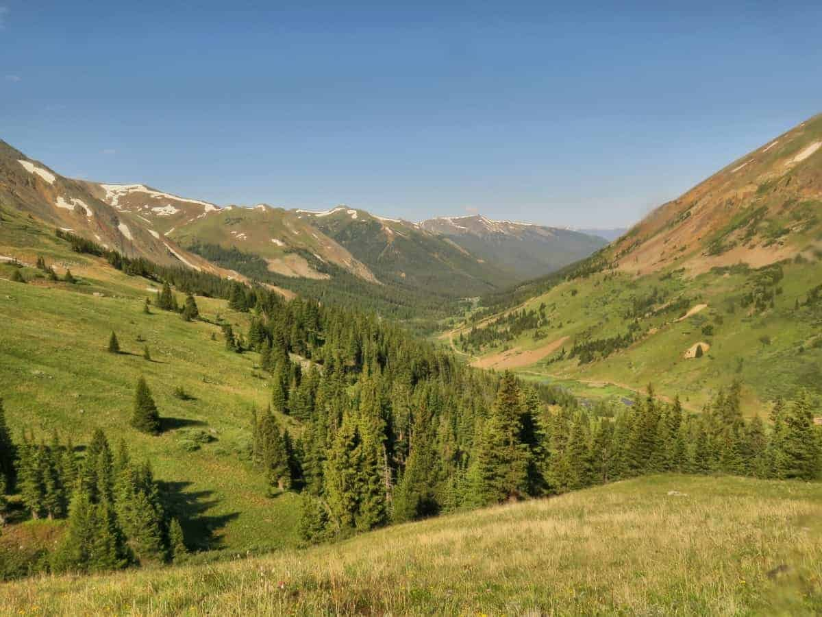 The valley approach to Grays Peak