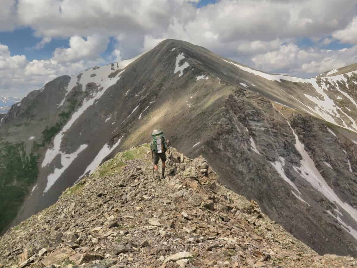 Approaching the summit of Grays Peak on the CDT