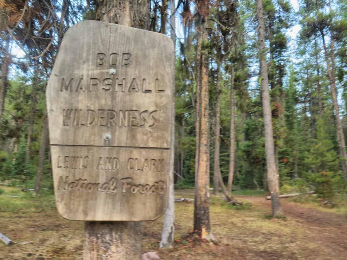 Bob Marshall Wilderness sign