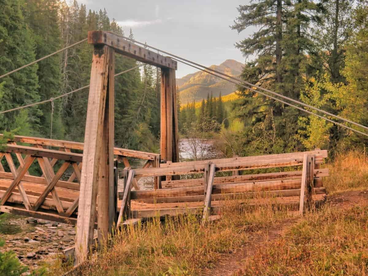 Bridge in the Bob Marshall Wilderness Montana