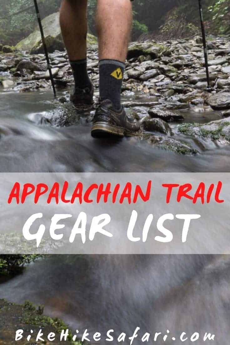 Appalachian Trail Gear List