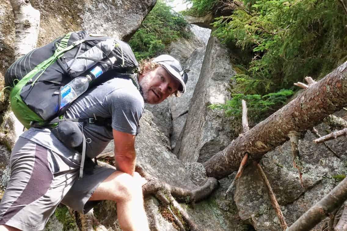The start of Mahoosuc Notch trail