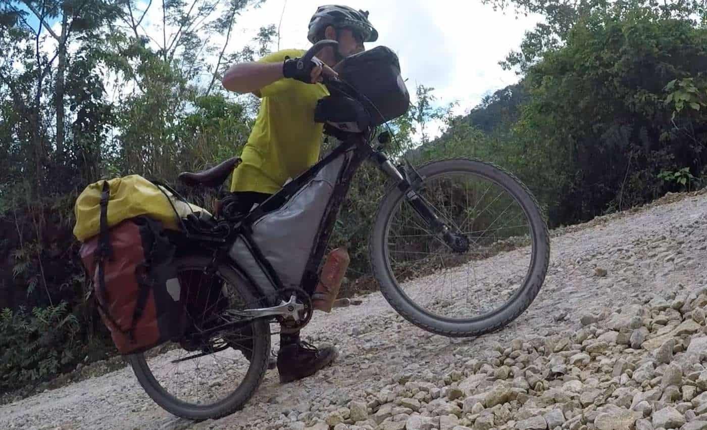guatemala bicycle touring steep hills