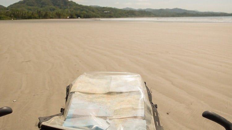 bikepacking on the beach