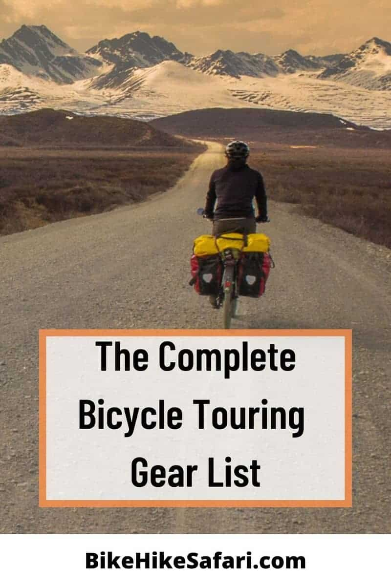 Lightweight Bicycle Touring Gear List