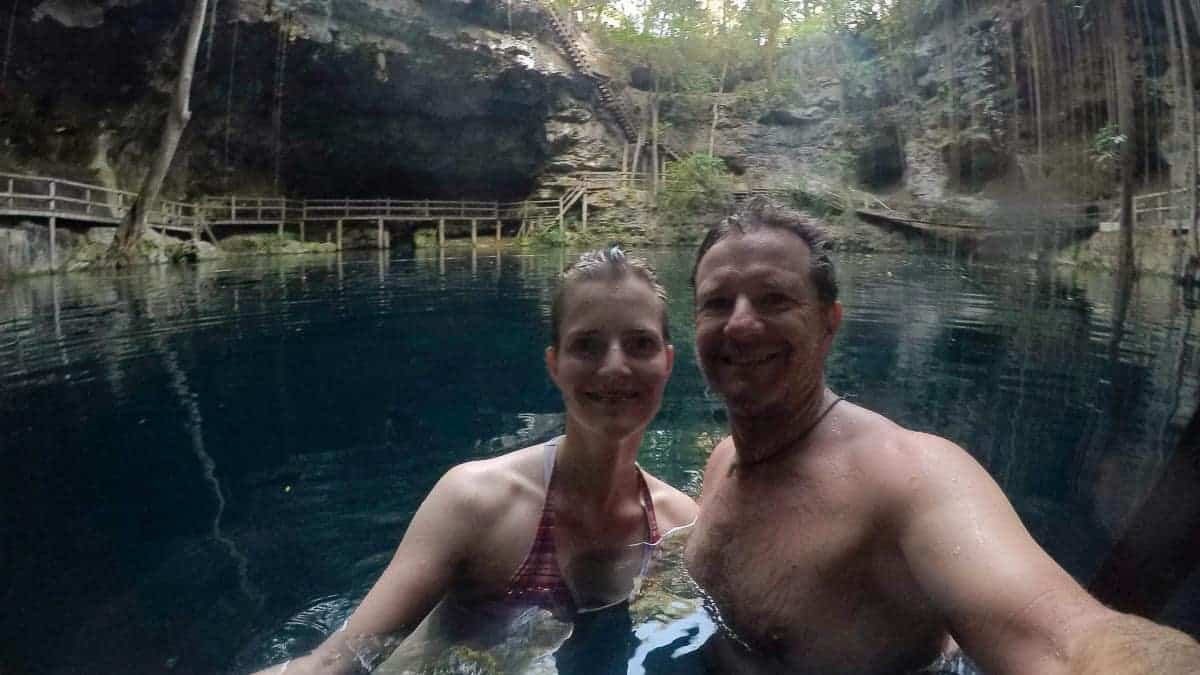 Sunset at X'Canche Cenote