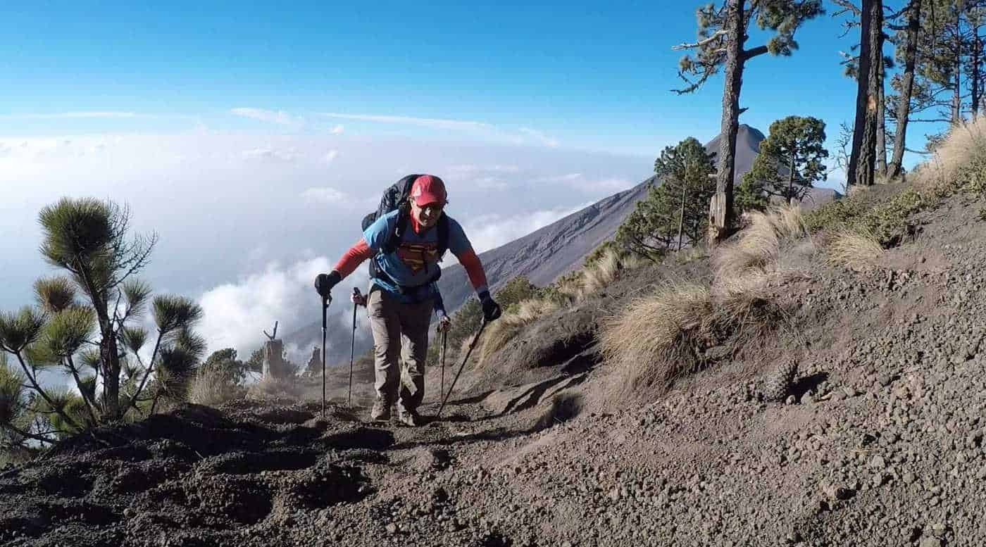 climbing acatenago volcano-guatemala without a guide