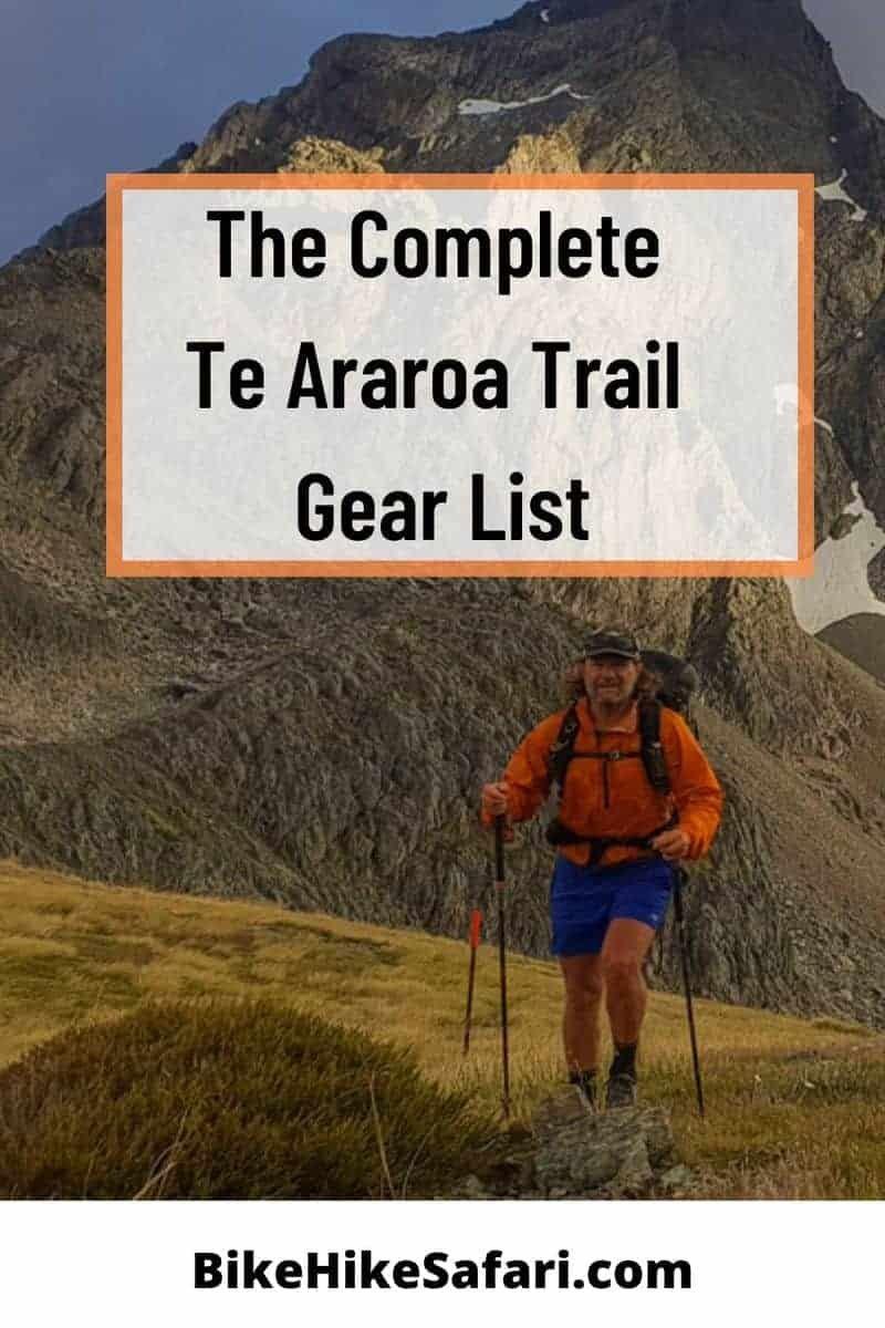 te araroa trail gear list