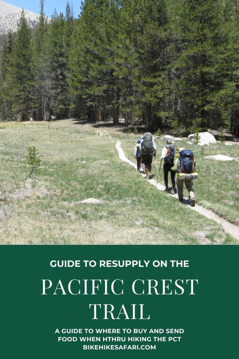 Pacific Crest Trail Resupply - Food for the PCT - BikeHikeSafari