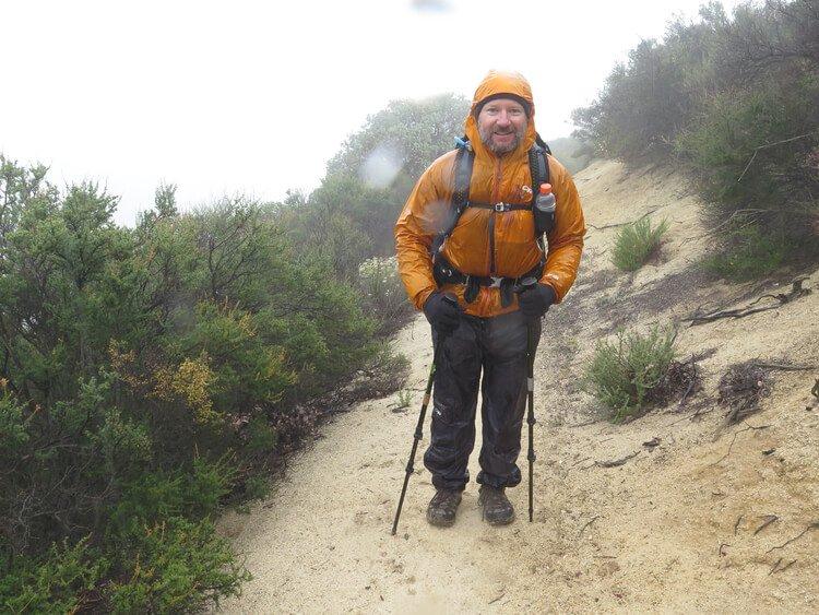 Rain jacket wetting out while thru hiking in the rain