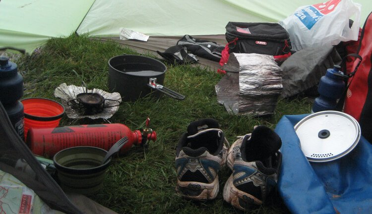 Gear Testing a 2 person backpacking cookware set while bicycle touring