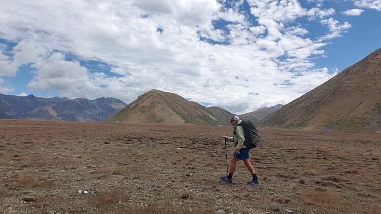 Testing trail running shoes while thru hiking in new zealand